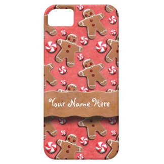 Gingerbread Men Cookies Candies Red iPhone SE/5/5s Case
