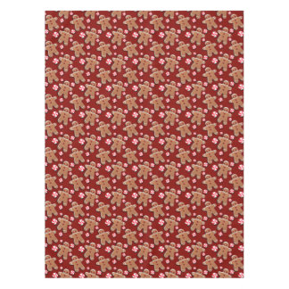 Gingerbread Men Cookies Candies Red Tablecloth