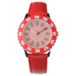 Gingerbread Men Cookies Red Wrist Watches