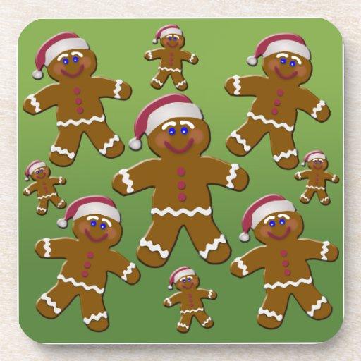 Gingerbread Men Drink Coaster