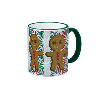 Gingerbread Men Drinkware Ringer Coffee Mug