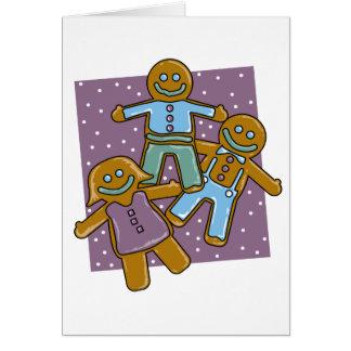 Gingerbread Men Greeting Cards