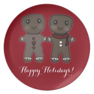 Gingerbread Men ~ Happy Holidays! Dinner Plate