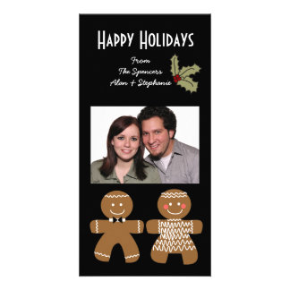 Gingerbread Men Holiday Photo Cards