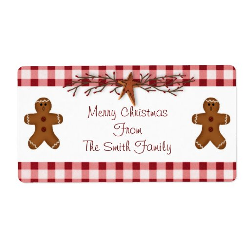 Gingerbread Men Label | Zazzle