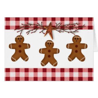Gingerbread Men Large Print Christmas Card