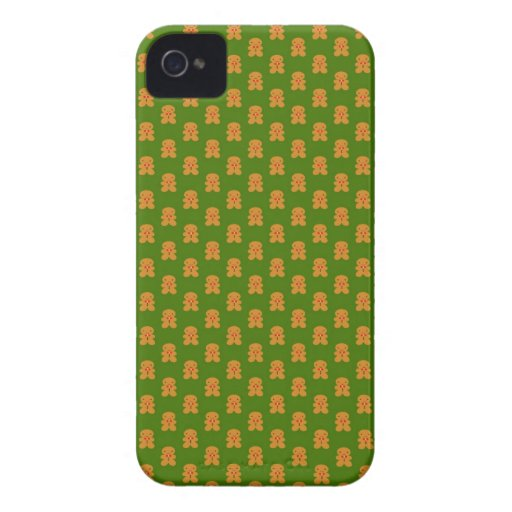 Gingerbread Men on Green iPhone 4 Case