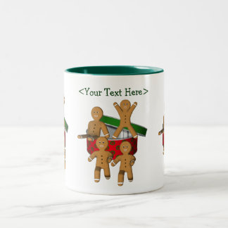 Gingerbread Men Personalized Christmas Holiday Mug