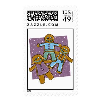Gingerbread Men Postage Stamp