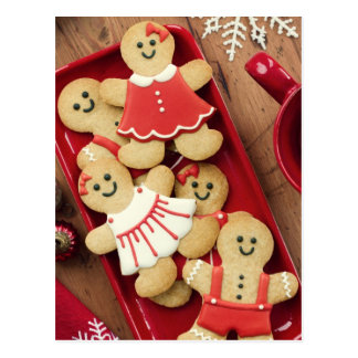 Gingerbread men postcard