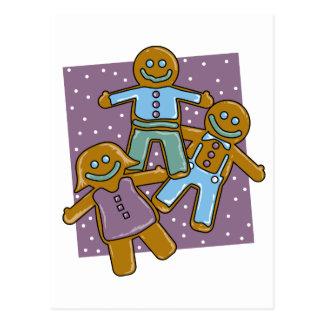 Gingerbread Men Postcard