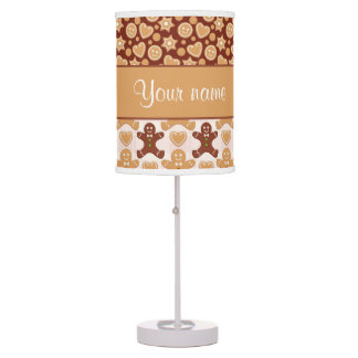 Gingerbread Men, Smiley Faces and Hearts Desk Lamp