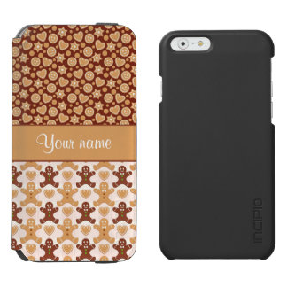 Gingerbread Men, Smiley Faces and Hearts iPhone 6/6s Wallet Case