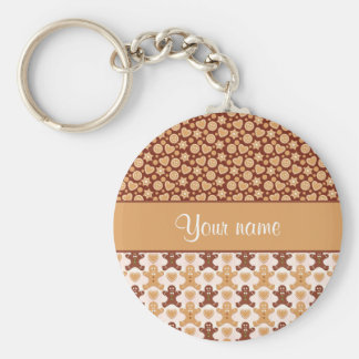 Gingerbread Men, Smiley Faces and Hearts Keychain