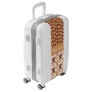 Gingerbread Men, Smiley Faces and Hearts Luggage