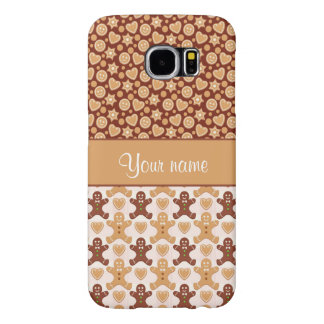 Gingerbread Men, Smiley Faces and Hearts Samsung Galaxy S6 Case
