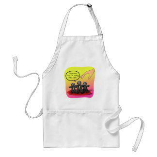 Gingerbread Men with Attitude Funny Cookies Adult Apron