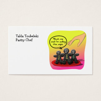 Gingerbread Men with Attitude Funny Cookies Business Card