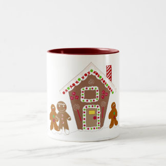 Gingerbread Men with Gingerbread House Mugs