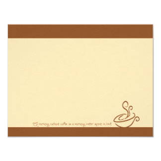 Gingerbread Morning Without Coffee Cup Note Cards