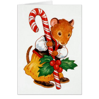 Gingerbread Mouse Note Card
