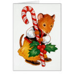 Gingerbread Mouse Stationery Note Card