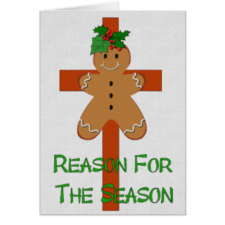 Gingerbread On A Cross Card