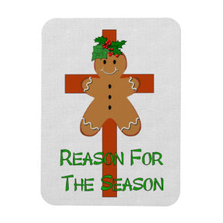 Gingerbread On A Cross Magnet