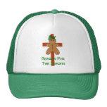Gingerbread On A Cross Mesh Hat