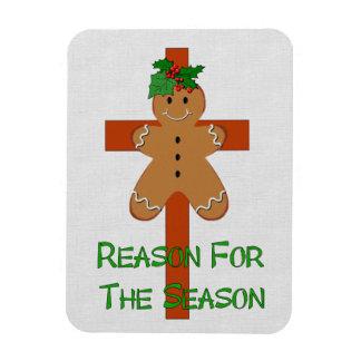 Gingerbread On A Cross Rectangular Magnets