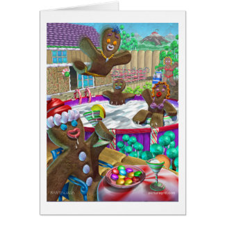 gingerbread_party greeting cards