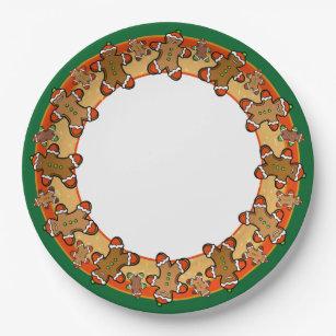 Gingerbread people cookie server paper plate  sc 1 st  Zazzle & Gingerbread Plates | Zazzle