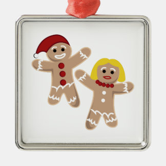 Gingerbread People Christmas Tree Ornament