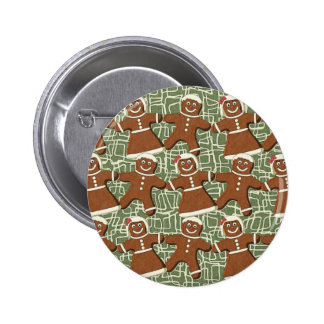 GINGERBREAD PEOPLE PINBACK BUTTON
