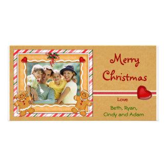 Gingerbread Photo Greetings Card
