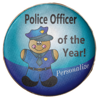 Gingerbread Police Officer of the Year Treats Chocolate Covered Oreo
