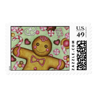 Gingerbread Postage Stamp