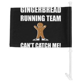 Gingerbread Running Team Car Flag