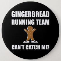 Gingerbread Running Team Pinback Button