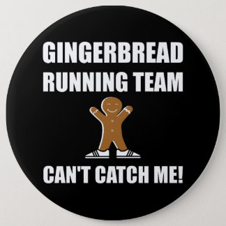 Gingerbread Running Team Pinback Button