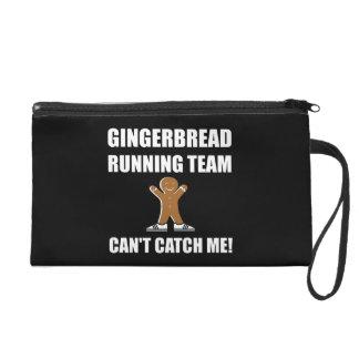 Gingerbread Running Team Wristlet Purse