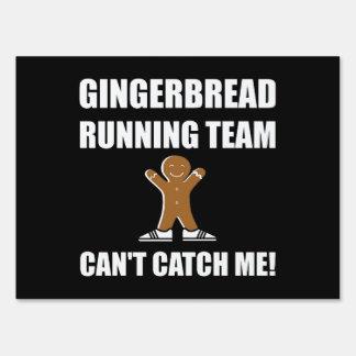 Gingerbread Running Team Yard Sign