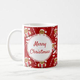 Gingerbread Santa Candy Cane Pattern   Mug