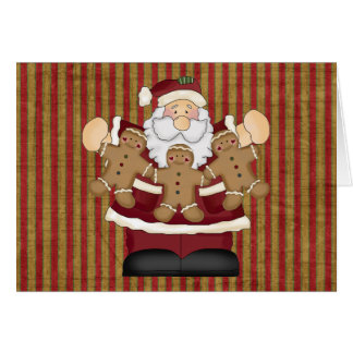 Gingerbread Santa Greeting Cards