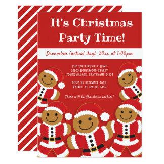 Gingerbread Santa   Christmas Party Invitation