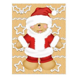 Gingerbread Santa Claus Postcard