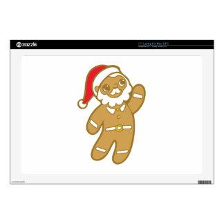 Gingerbread Santa Laptop Decals