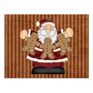 Gingerbread Santa Postcard