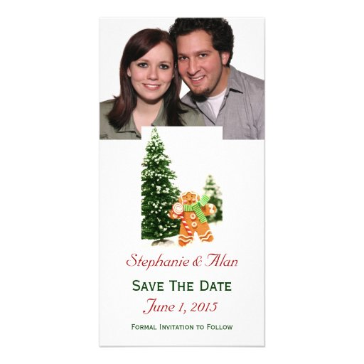 Gingerbread Save The Date PhotoCards Picture Card