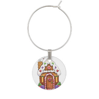 Gingerbread Set of 4 Wine Charms Assorted